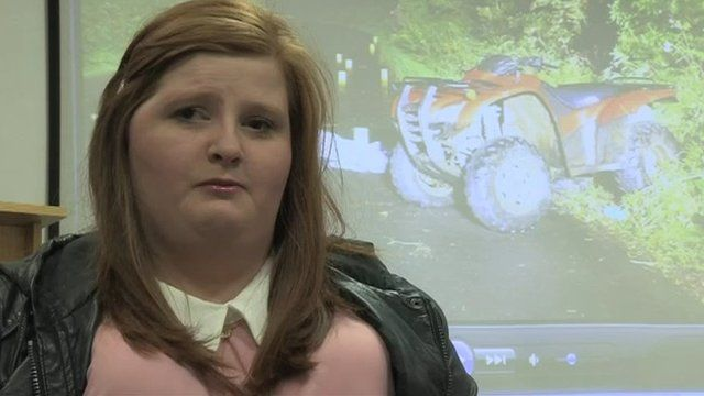 Rebekah Glass had part of her brain removed and suffered a stroke after the accident
