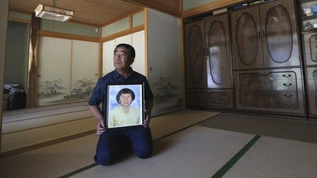 Mikio Watanabe and his wife Hamako were forced to evacuate their home in Kawamata town