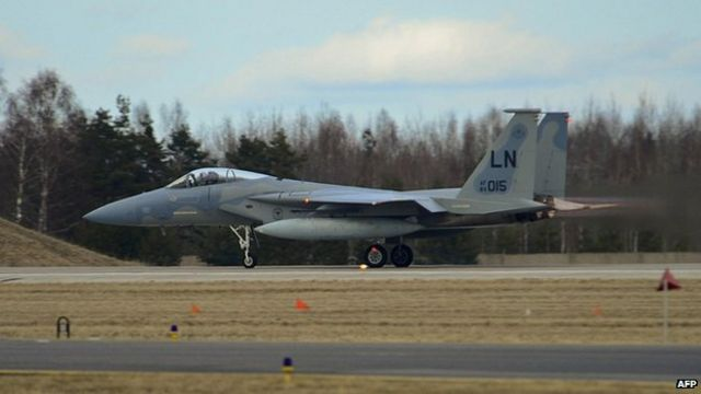 US F-15 military jet crashes in Virginia
