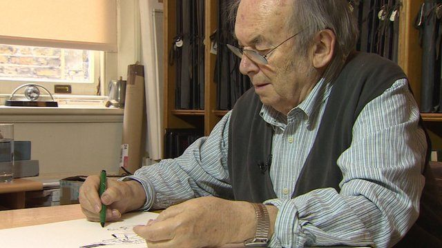 Quentin Blake at work in his studio