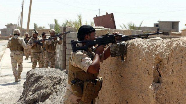 Kurdish Peshmerga in Bakirta village near the town of Makhmur, south of Irbil