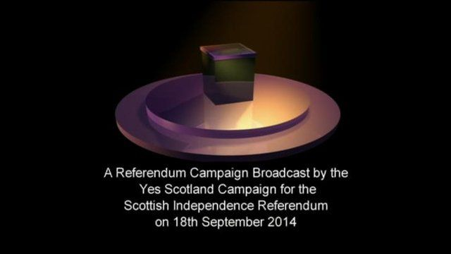 Yes Scotland campaign broadcast