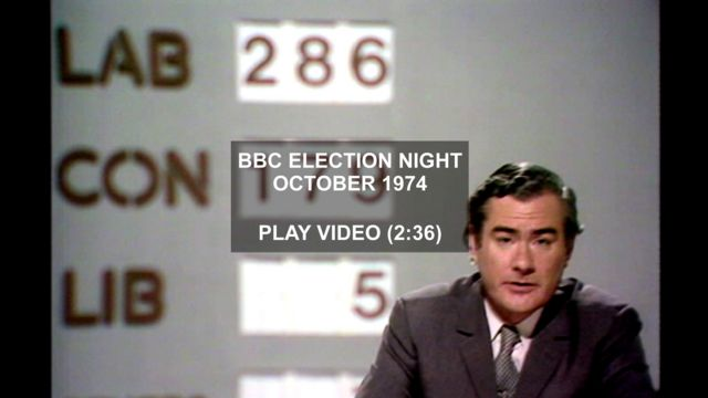 BBC General Election programme - October 1974