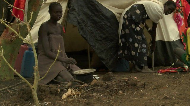 South Sudanese refugees at a camp