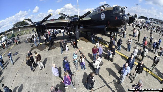 Visitors enjoy the Lancaster