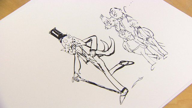 Illustrator Quentin Blake's illustration to missing Dahl chapter The Vanilla Fudge Mountain