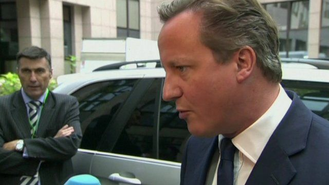Prime Minister David Cameron arriving for EU meeting in Brussels