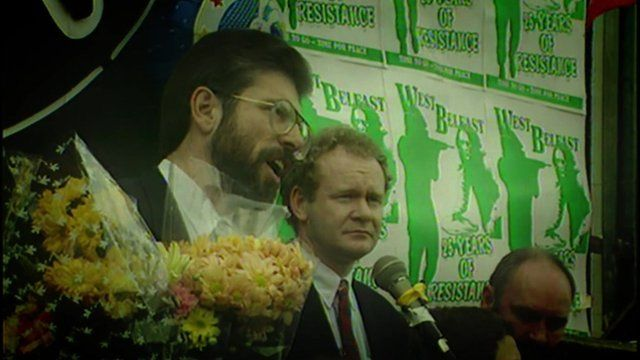 Gerry Adams and Martin McGuiness
