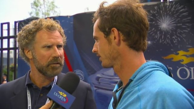 Will Ferrell and Andy Murray