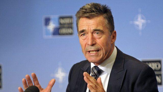 Nato Secretary-General Anders Fogh Rasmussen in Belgium