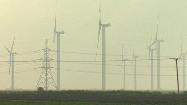 Turbines and a pylon