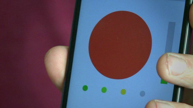 Autism app in use