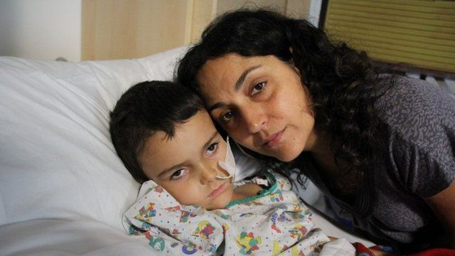 Ashya King with his mother Naghemeh