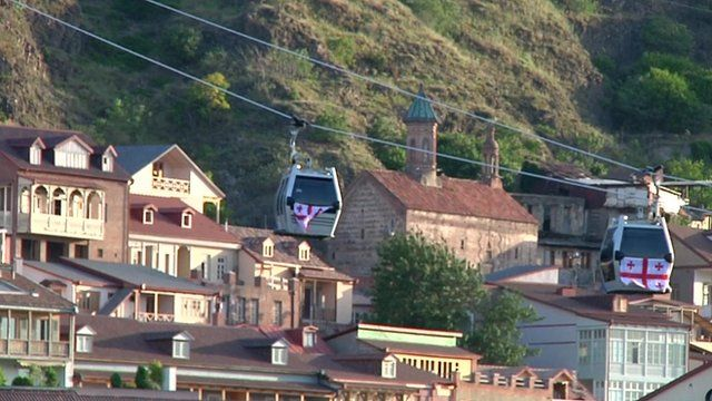 Cable car in Tbilisi