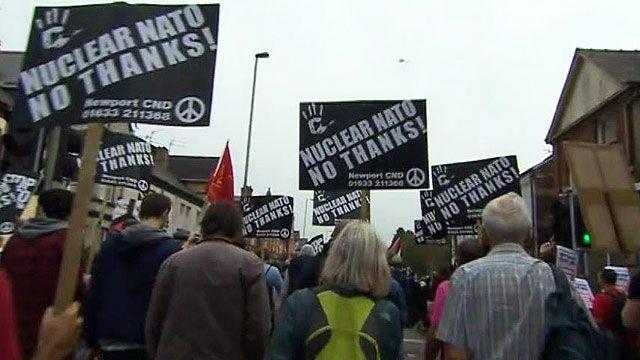 Protest in Newport