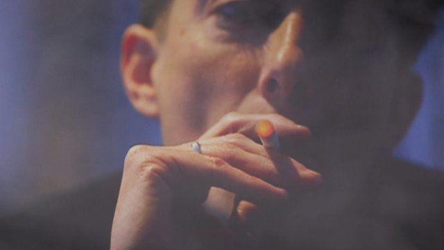 Man smoking E-cig