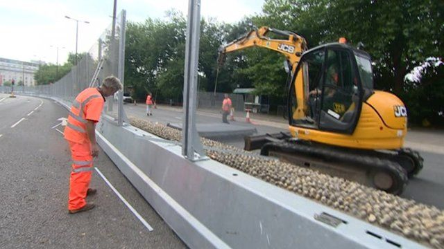 fences being removed in Cardiff city centre