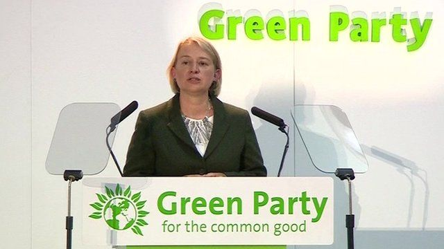 Green Party leader, Natalie Bennett, speaking at the party's autumn conference