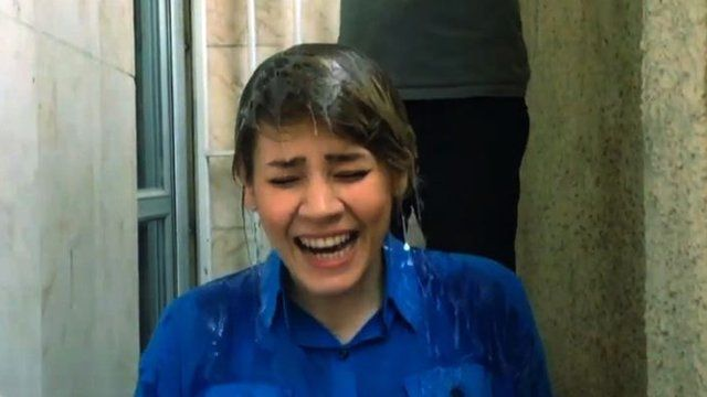 Iranian women doing Ice Bucket challenge
