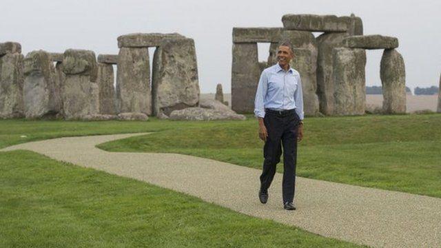 President Barack Obama visits Stonehenge