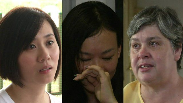 Wives of missing passengers and crew from MH370