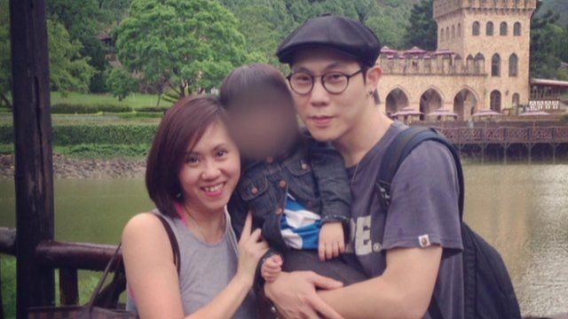 Woon Mei Sing and her husband who was a passenger on MH370