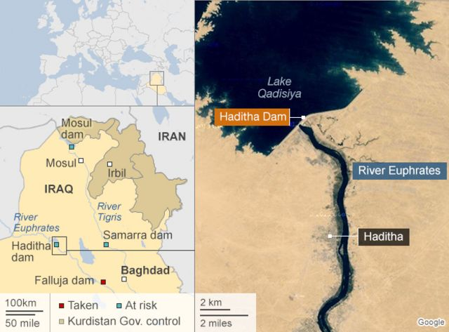 Iraq 'clears' IS from key dam area after US strikes