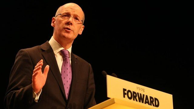 John Swinney at SNP spring conference in March 2013
