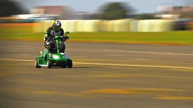 Mobility Scooter Breaks Speed Record Bbc News