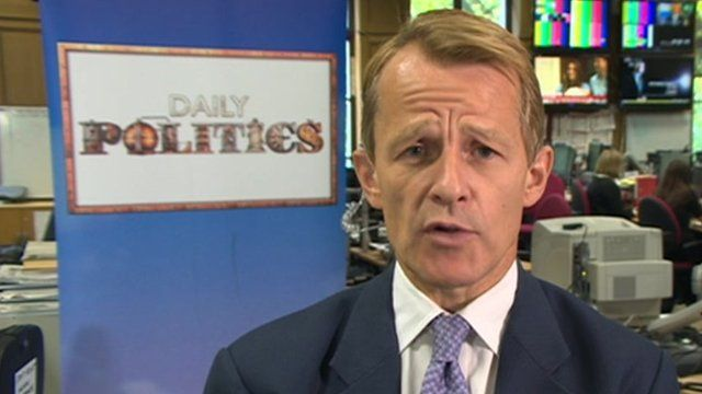 David Laws in Westminster newsroom