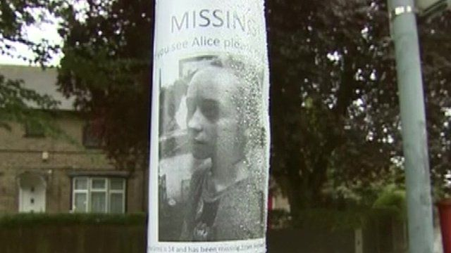 Missing poster picturing Alice Gross