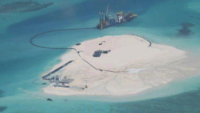 Aerial image of island