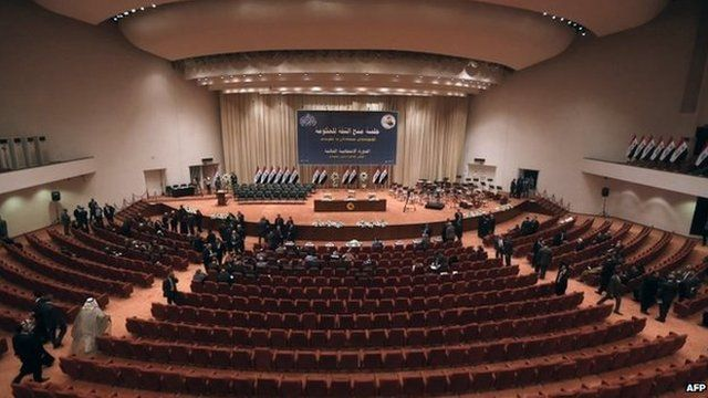 The Iraqi parliament in Baghdad before the vote on the cabinet, 8 September 2014