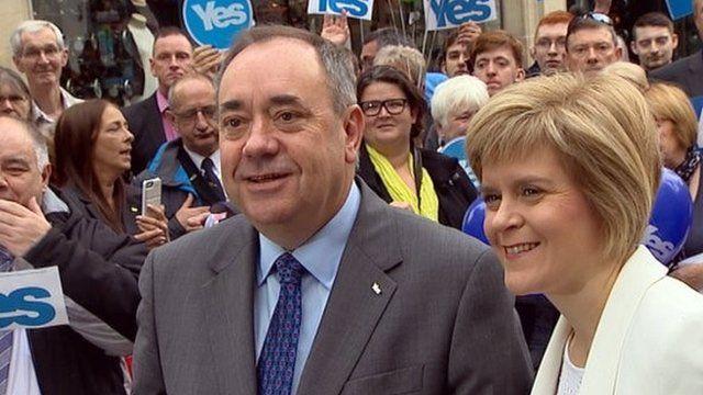 Alex Salmond with Nicola Sturgeon