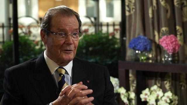Roger Moore speaks to the BBC
