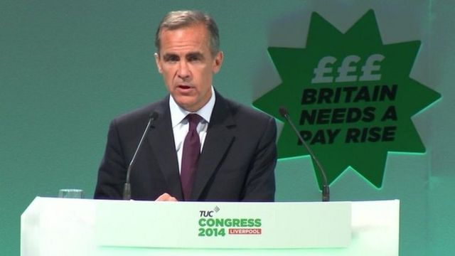 Mark Carney predicts real terms wage rises 'next year'
