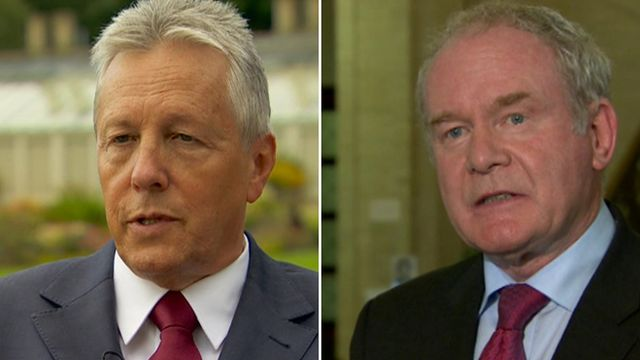"""Peter Robinson said the arrangements were """"no longer fit for purpose"""", but Martin McGuinness questioned the motives of the DUP"""