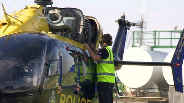 Airbus police helicopter