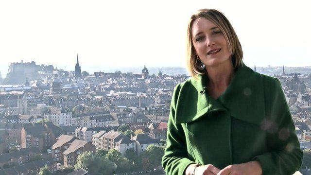 BBC reporter Lucy Hockings in Edinburgh