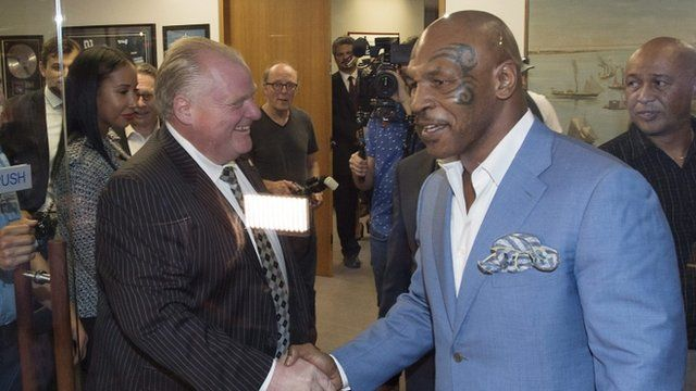 Toronto Mayor Rob Ford with Mike Tyson