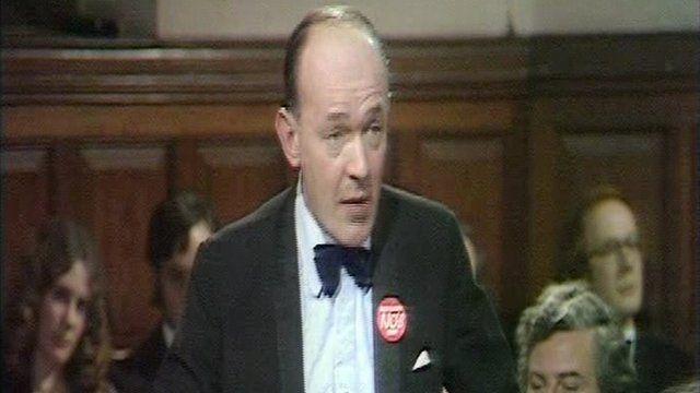 Teddy Taylor MP in 1979.