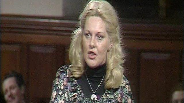 Margo MacDonald debating in 1979.