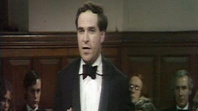 Leon Brittan debating in 1979.