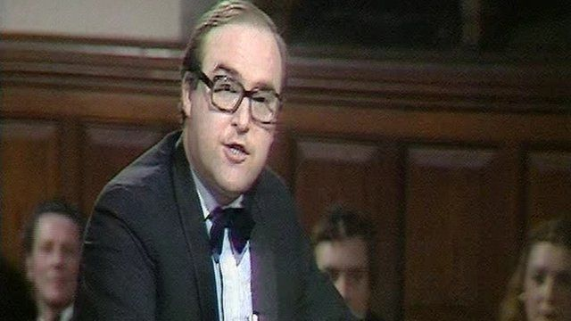 John Smith debating in 1979.