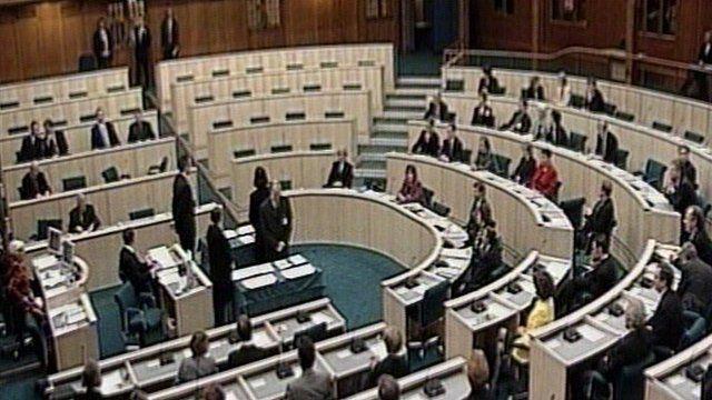 The Scottish Parliament in 1999.