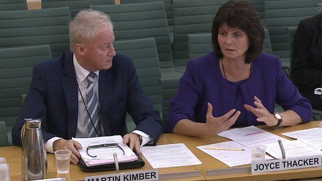 Rotherham Council chief executive Martin Kimber and director of children's services Joyce Thacker