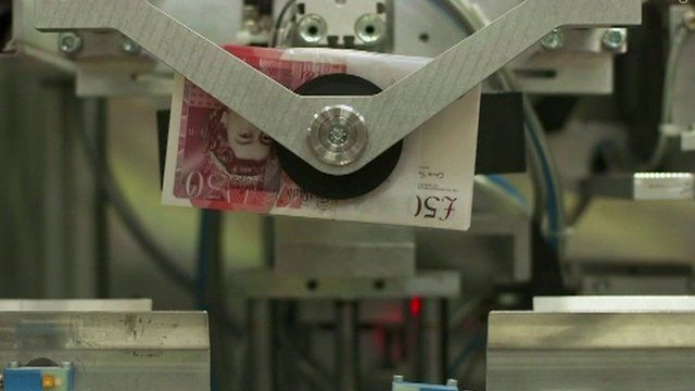£50 note being minted