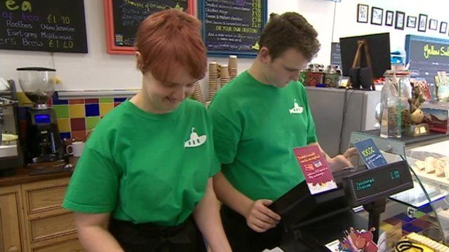 Apprentices with learning disabilities at Oxford cafe
