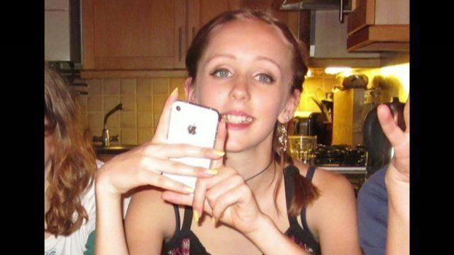 Alice Gross with her white iPhone 4s