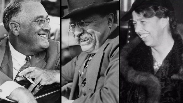 Franklin, Teddy and Eleanor Roosevelt
